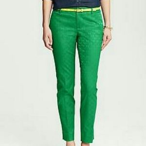 Kelly Green Hampton crop pant